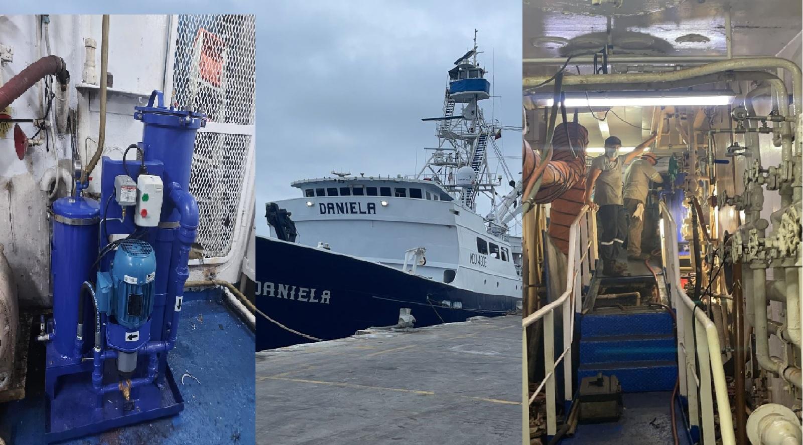 Sistema de filtrado de Diesel en barcos